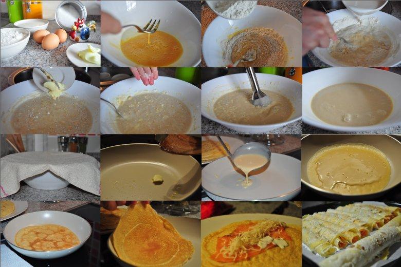 Receta crepes de salm n - Ingredientes para crepes ...