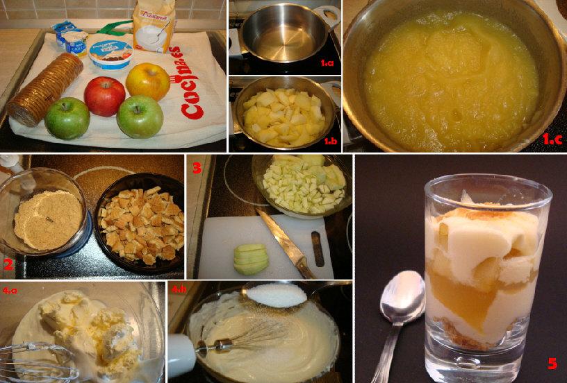 Paso a paso de la receta del tiramisú de manzana