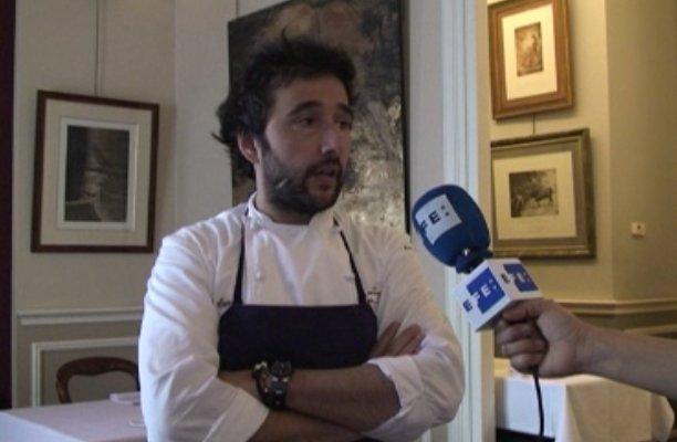 El chef Diego Guerrero, durante una entrevista a EFE