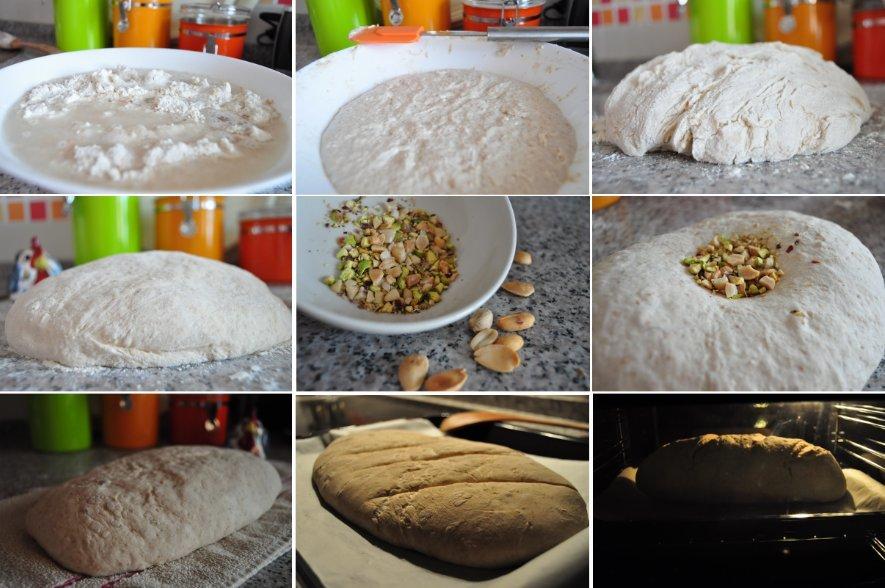 Imágenes del paso a paso de la elaboración de pan casero