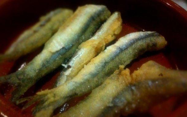 Reción de chanquetes con fritura española