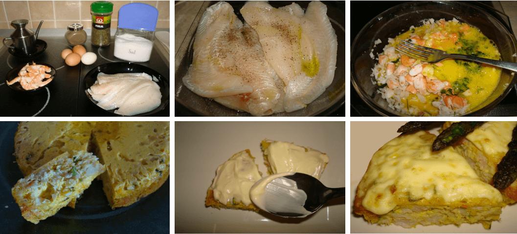 Pastel de pescado paso a paso