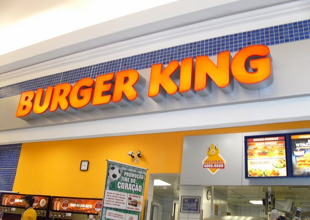 Interior de una hamburguersería de la cadena Burger King