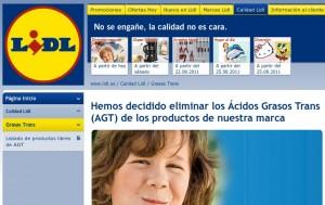 Web de los supermercados Lidl