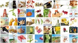 Fotos de animales hechos con comida de
