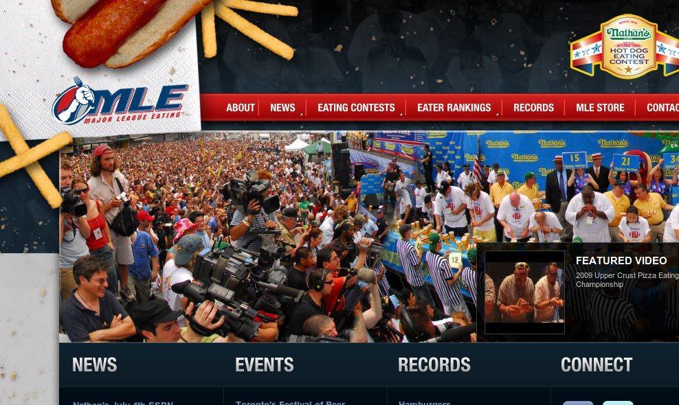 Página web de la Major League Eating