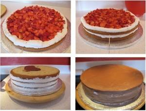 Interior de una tarta decorada de Pucky Cakes