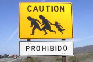 prohibido pasar con niños