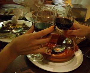 Alcohol y comida