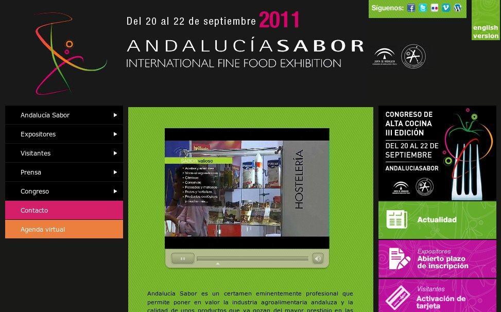Sitio web de Andalucía Sabor