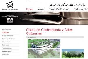Web oficial del Basque Culinary Center