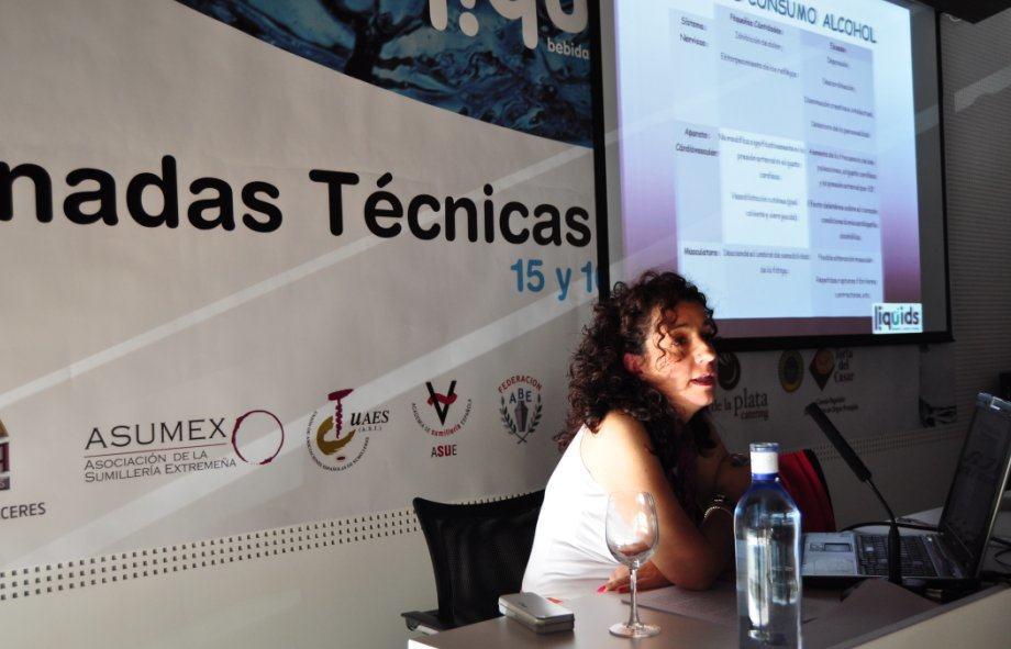 María Teresa Guerra, durante su intervención en Liquids