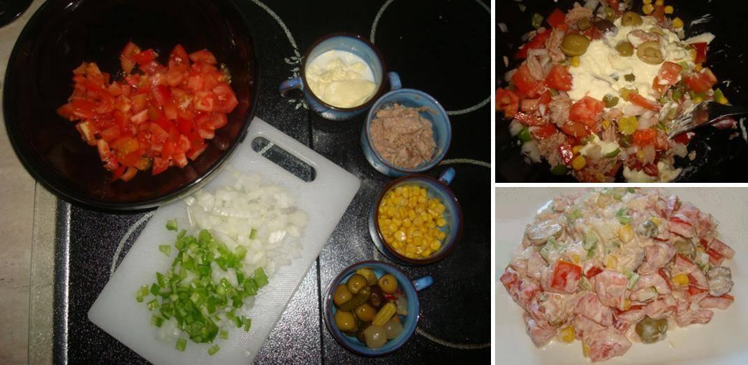 Receta de ensaladilla de tomate, paso a paso
