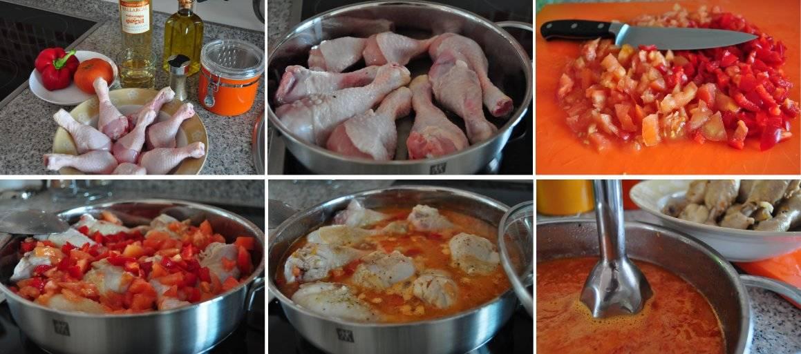 Receta paso a paso de los jamoncitos de pollo con pimientos