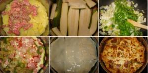 """Paso a paso de la receta """"pastel de carne, patatas y verduras"""""""