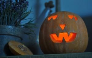 Calabaza de Halloween decorada