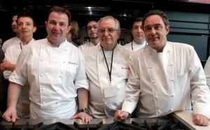 """Ferrán Adria, Juan Mari Arzak y Martín Berasategui, 3 de los 155 participantes en """"El gusto es nuestro. 155 recetas solidarias"""""""