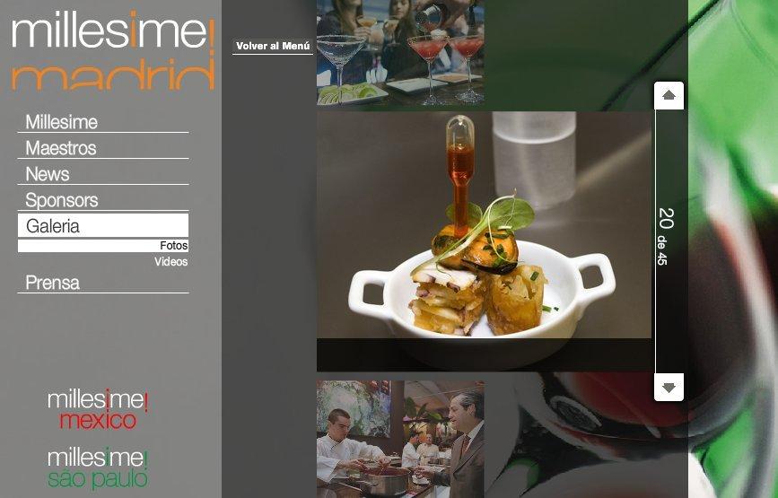 Captura de la web de Millesime Madrid