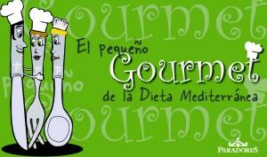 """Portada del Folleto """"El Pequeño gourmet de la dieta mediterránea"""" de Paradores"""