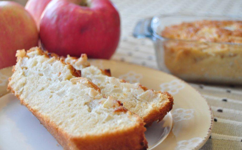 Dos porciones de tarta de manzana al brandy
