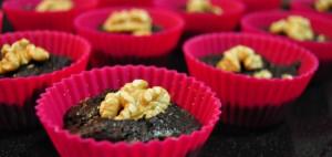 Los brownies, en sus moldes de silicona