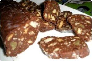 Chorizo de chocolate: postres sin azúcar para diabeticos