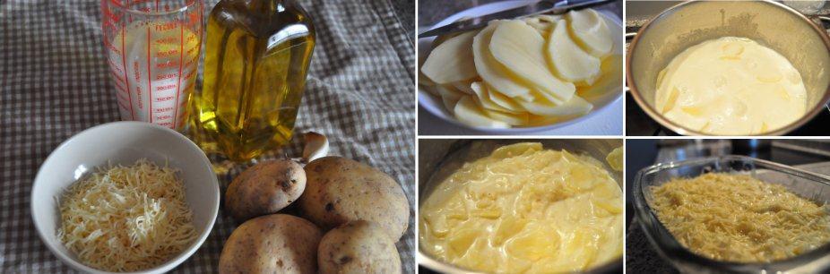 Paaso a paso de la receta de gratinado de patatas