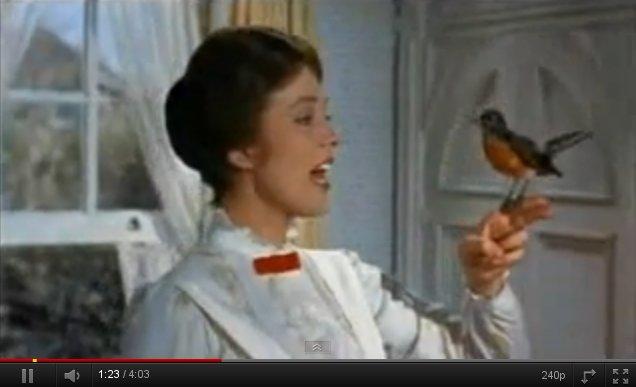 """Vídeo de la canción """"Con un poco de azúcar"""" de Mary Poppins"""