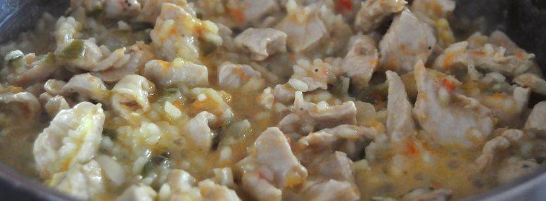 Elaboración de la receta de arroz con pollo