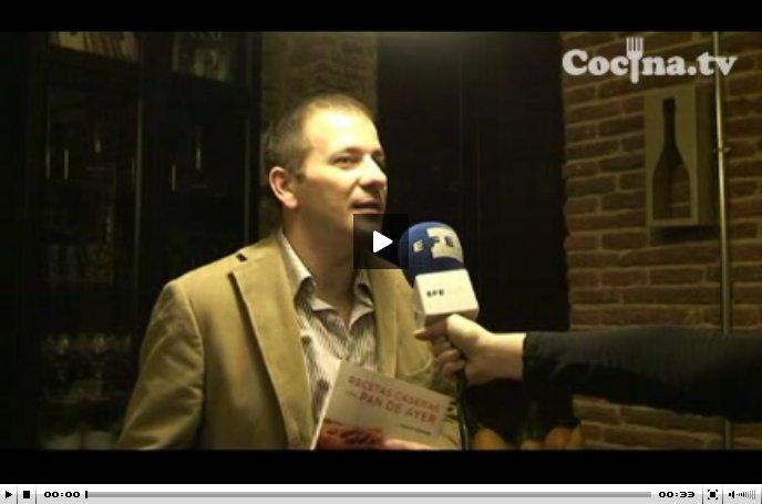 """Xavier Barriga, autor de """"Recetas caseras con pan de ayer"""", en declaraciones a EFE"""