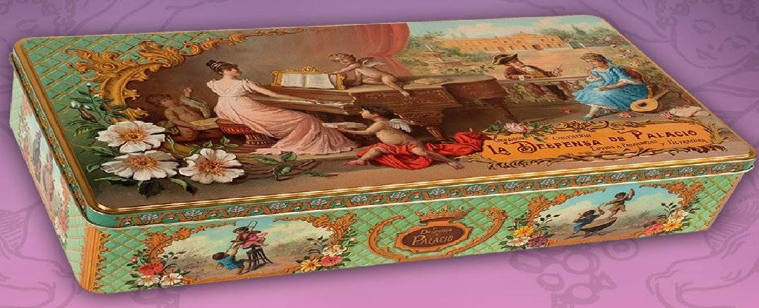 Cajas de metal illustradas de La Despensa de Palacio