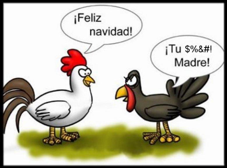 Chiste del pavo y la gallina en Navidad