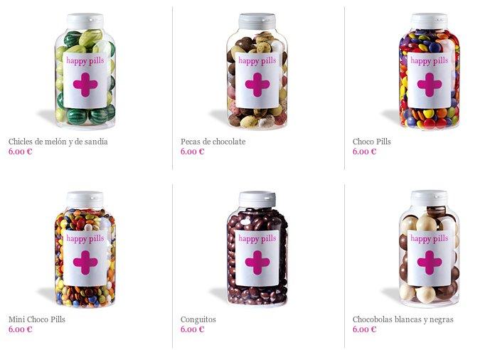 Frascos de chuches de Happy Pills