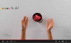 Cómo doblar servilleta forma de rosa
