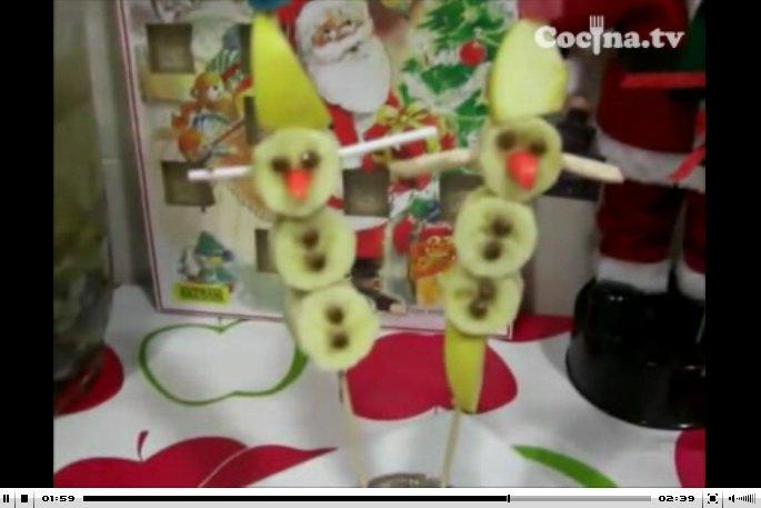 Muñecos de nieve de fruta