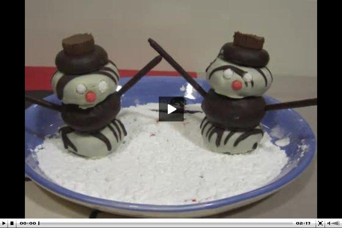 Muñecos de nieve dulces
