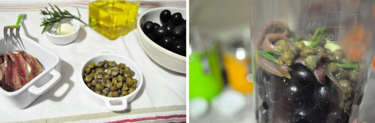 Receta del tapenade de aceitunas negras y alcaparras