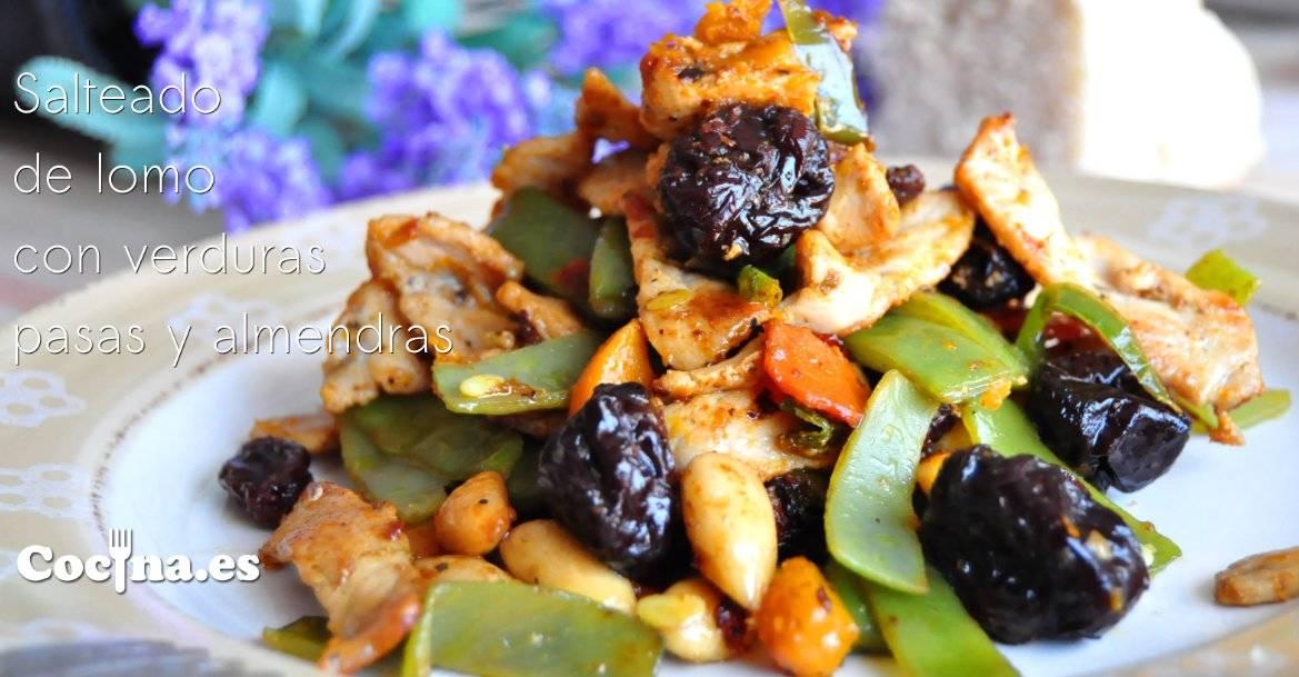 Salteado de lomo con verduras