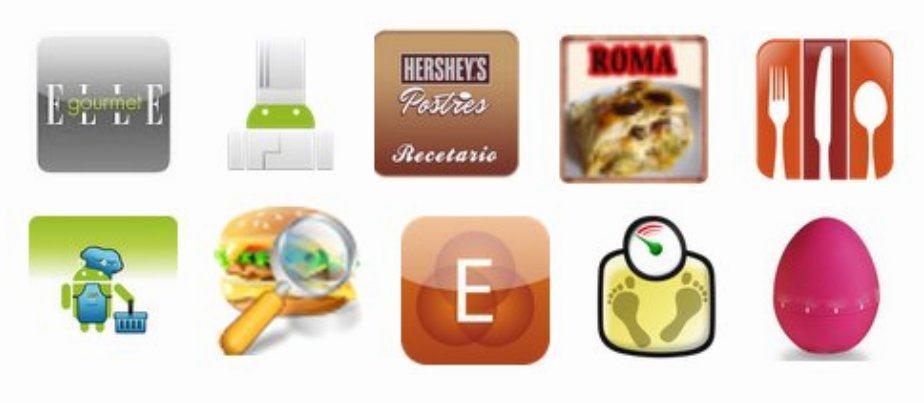 Selección de aplicaciones de cocina para Android