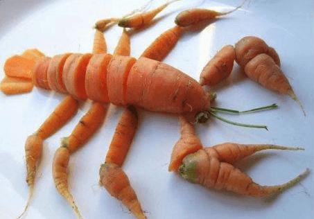 La cigala que resultó ser una zanahoria degollada