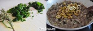 Elaboración de la salsa de champiñones para los radiatori de pasta