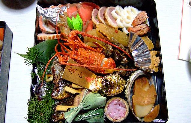 Menu típico de Año Nuevo en Japón