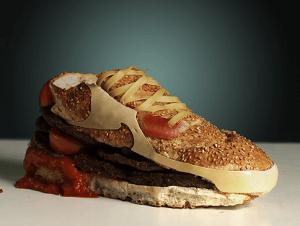Las Nike Air que resultaron ser una hamburguesa a su manera.