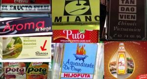 Restaurantes y alimentos con nombres poco agraciados