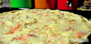 Quiche de patatas con salmón