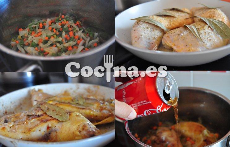 Receta paso a paso del pollo a la Coca Cola
