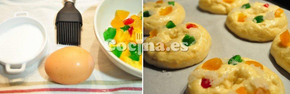 Decoración y horneado de un roscón de Reyes