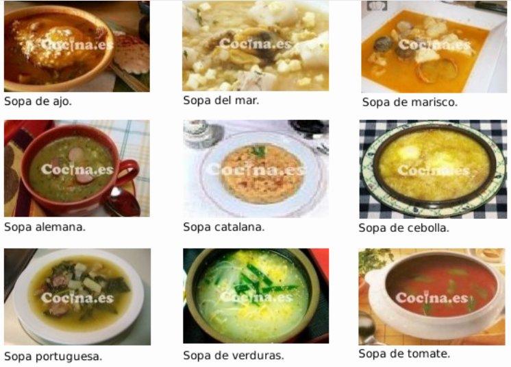 Recetas de sopa de Cocina.es