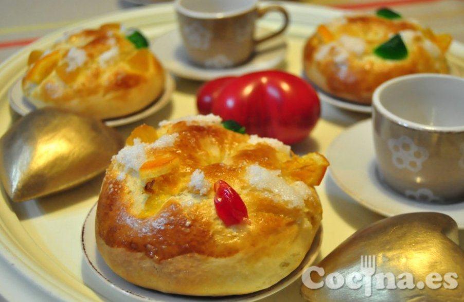 Roscón de Reyes casero: rosconcitos