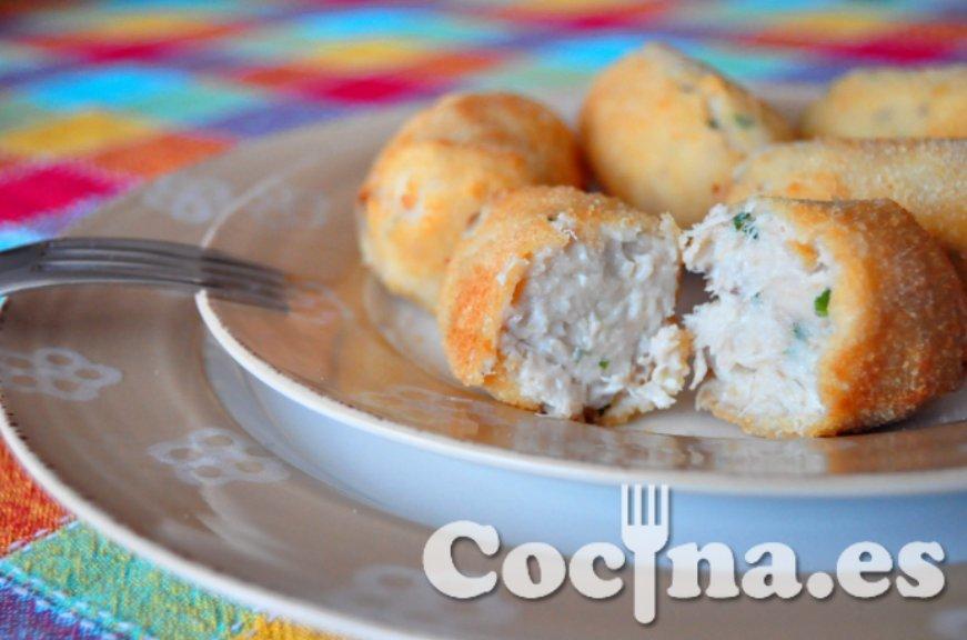 Croquetas de pollo con las sobras del cocido
